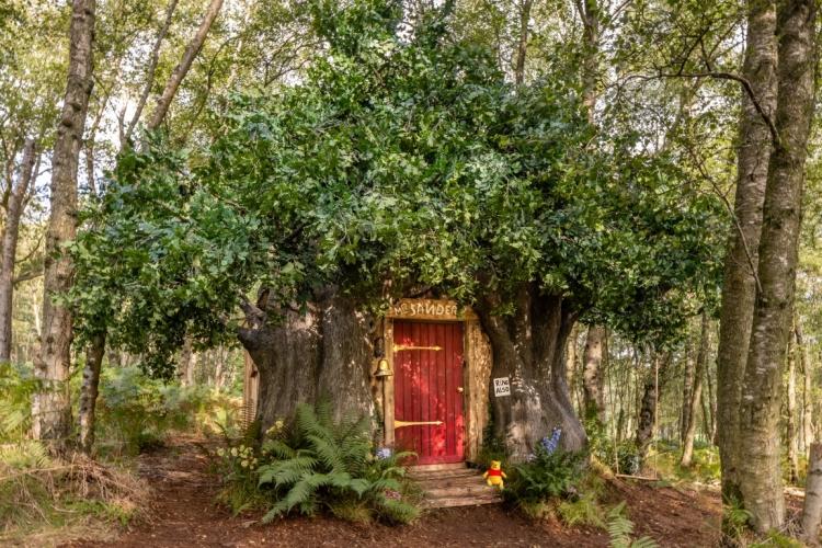 Een huis op maat van Disney's Winnie de Poeh in het echte Honderd Bunderbos via Airbnb